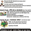 17 et 18 juin : rando, musique et danse