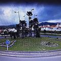 Rond-point à Nordeste (Portugal)