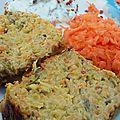 Cake légumes et lentilles corail