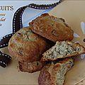 Biscuits riches et gourmands, aux bananes, aux noix et pépites de chocolat, sans gluten