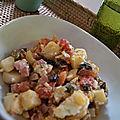 Piémontaise et sauce salade dressing