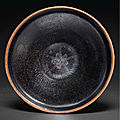 A rare Cizhou-type silver-decorated black-glazed tea bowl, Southern Song-Jin dynasty, <b>12th</b>-<b>13th</b> <b>century</b>