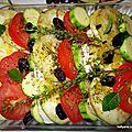 tian provençal aux légumes d'été + chèvre