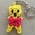 Winnie l'ourson en élastiques (rainbow loom)