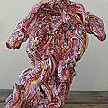 Hervé THAREL SCHMIMBLOCK'S mouv' 2012 - acrylique sur argile 20,5cmx23cm (3)