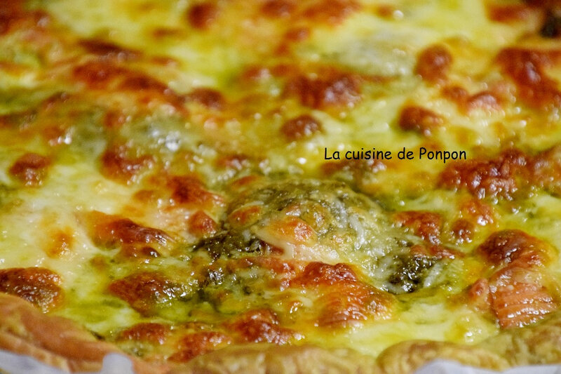 tarte pesto saumon et mozza (7)