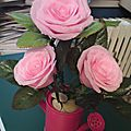 Rose is a rose : créations florales en papier crépon