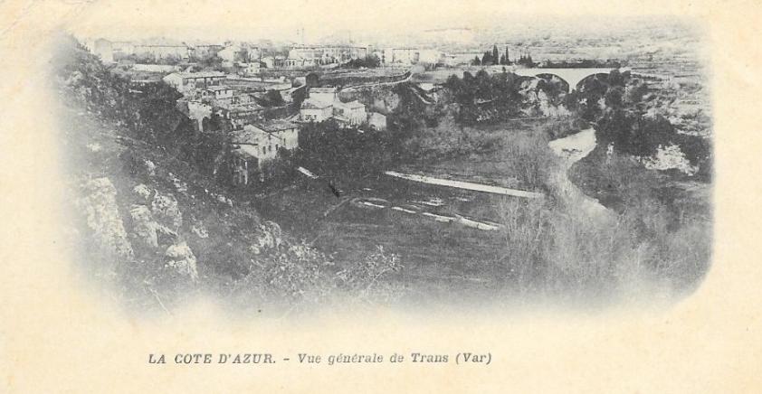 Trans-Vue générale sur le Pont de la Motte et le village