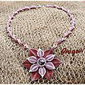 Collier Symply Seeds and Beaded Dahlia1