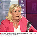<b>Marine</b> Le Pen face à Jean-Jacques Bourdin en direct