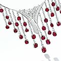 Important Ruby and <b>Diamond</b> <b>Necklace</b> and Pair of Matching Pendent Earrings, Fulvio Scavia