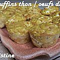 ~~ muffins thon oeufs durs ~~
