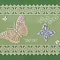 carte papillons faits à la grille, et entourage à la grille droite ( août 2011)