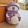 Snowman Door Stop - Knitting by post