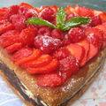 Gâteau coco et fruits rouges