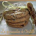 Cookies au pépites de chocolat, noisette et caramel de neness