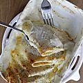 Crêpes jambon fromage gratinées au four