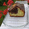 Dessert : marbré léger chocolat - coco