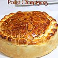 Tourte champignons poulet au curry facile