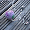 sphère anis violette