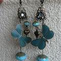 bo papillon turquoise
