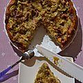 Gâteau renversé à la rhubarbe
