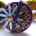 Bague Fleur Violette 8 Eur VENDUE