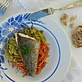 Les filets de poisson et sa julienne de poireaux et carottes {ou deux juliennes pour le prix d'une}