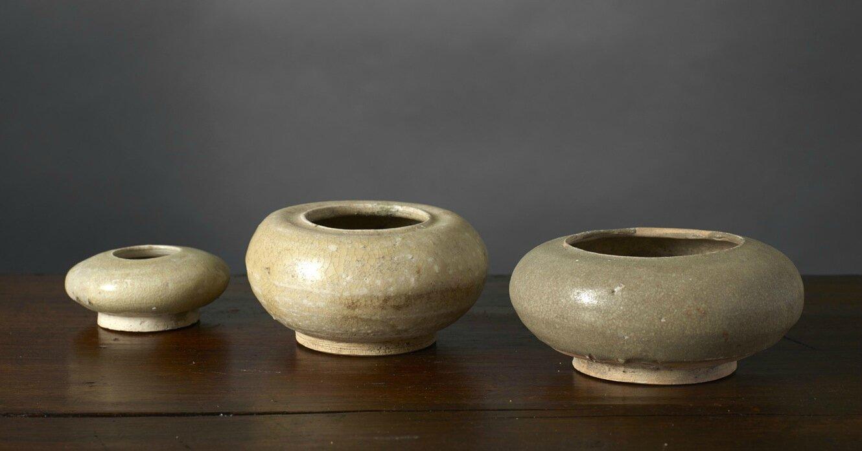 Trois gobelets, Vietnam, dynastie des Trần, 13e-14e siècle