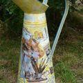 Pot en zinc décoré thème