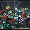 Exhibition of recent paintings and sculptures by <b>Glenn</b> <b>Brown</b> opens at Gagosian New York