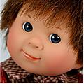 6) les moules des poupées Wichtel de Rosemarie Müller