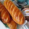 Baguettes viennoises nature, pépites de chocolat et aux cranberries