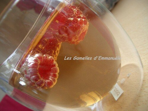Tisane glacée framboises pamplemousses