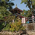 Bahari Temple sur le Phewa Lake à Pokara