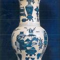 Paire de vases cornet yenyen. Chine, Dynastie Qing, XVIIIème siè