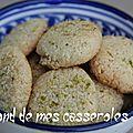 Biscuits coco/citron vert