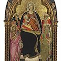 Giovanni dal ponte, the madonna and child with saints john the baptist, andrew, anthony abbot, and nicholas of bari