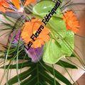 bouquet exotique gros plan