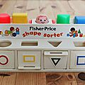 1 shape sorter fisher price
