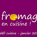 Récap de mes recettes fromagères et lancement pour le <b>défi</b> <b>cuisine</b> de janvier sur recette.de : le fromage en <b>cuisine</b>