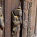 Temple en teck - Mandalay
