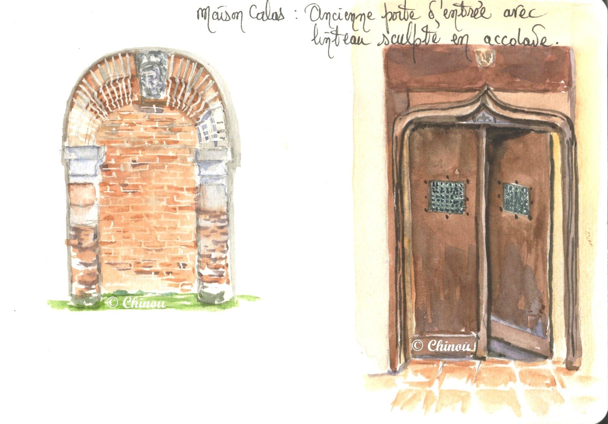 Porte maison Calas