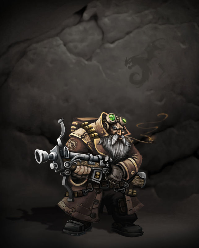 Dwarf Rogue arquebusier heroic fantasy chevalier chasseur tresor