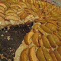 Tarte aux pommes a la crème d'amandes et pâtissière
