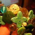 Collier crocheté vert vue 5