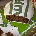 Gâteau ballon de rubgy