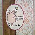 Un petit cochon heureux ...