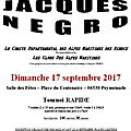 Le mémorial Jacques Negro