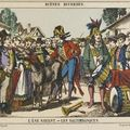 Imagerie d'Epinal - L'âne savant - Les saltimbanques